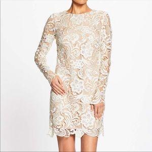 Dress The Population White Lace Long Sleeve Dress